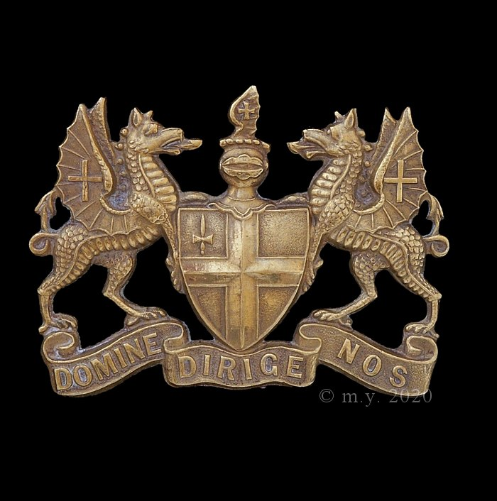 City of  London Volunteer Regiment Cap Badge