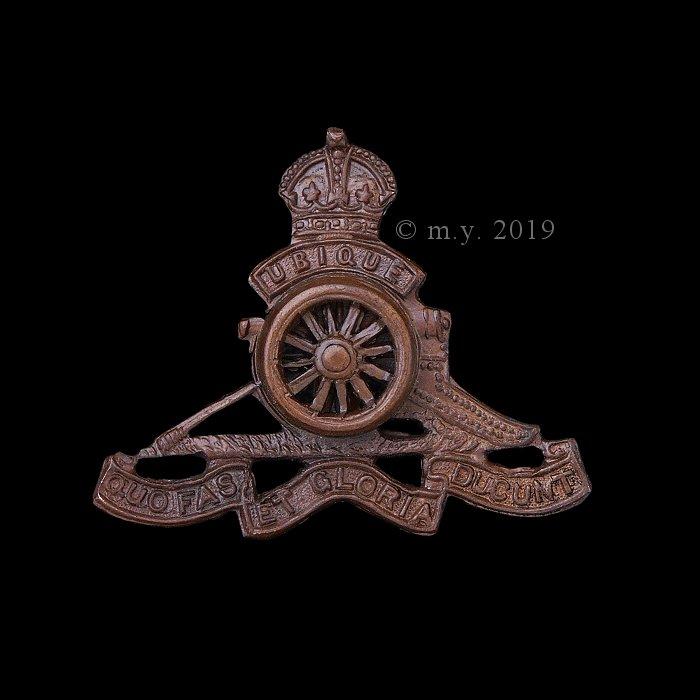 Officers' Service Dress -'Bronze' Royal Artillery Beret Badge