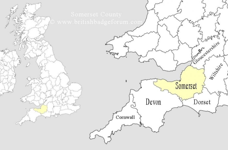 Somerset and surrounding counties.