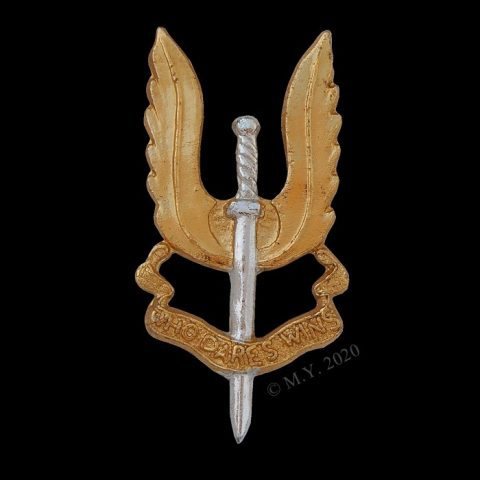 Rhodesian Special Air Service Staybrite Cap Badge. SAS