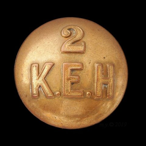 2nd King Edward's Horse Uniform Button