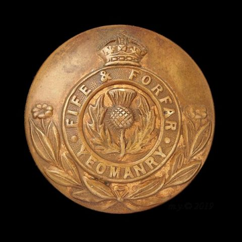 Fife and Forfar Yeomanry Uniform Button