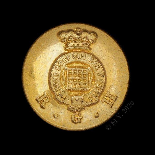 Royal Gloucestershire Hussars Uniform Button