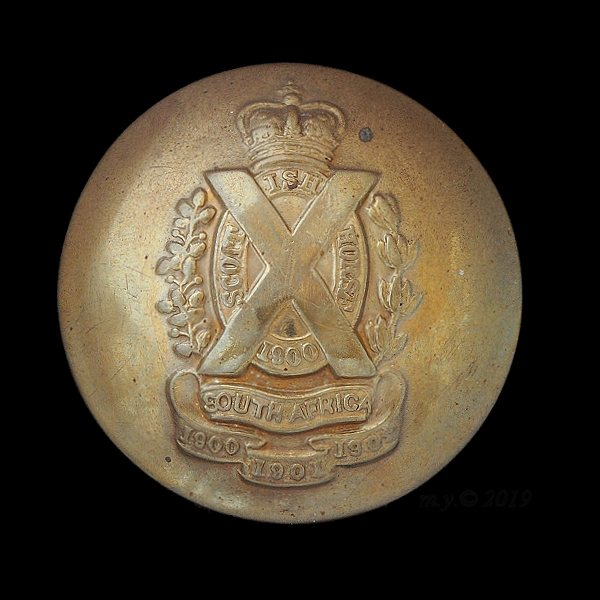Scottish Horse Yeomanry Uniform Button