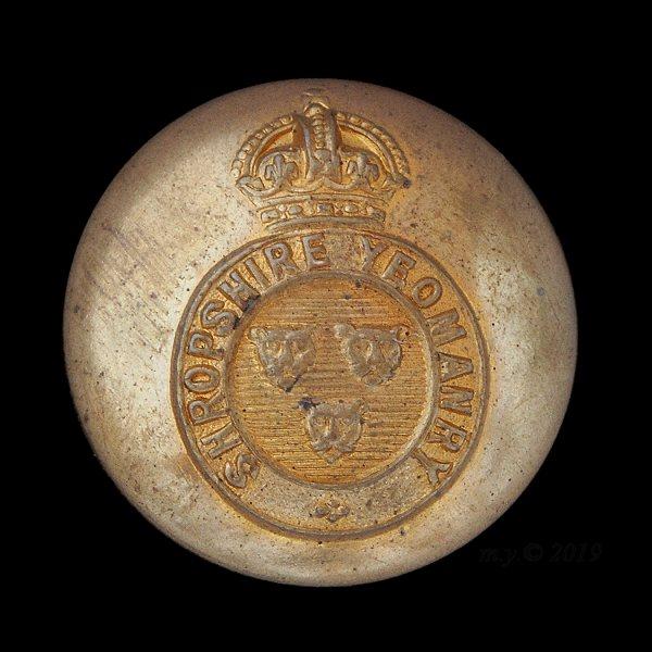 Shropshire Yeomanry Uniform Button