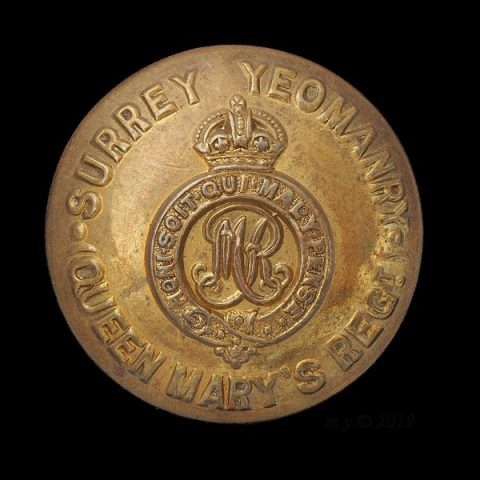 Surrey Yeomanry (Queen Mary's Regiment) Uniform Button