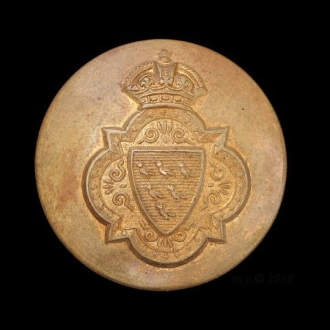 Sussex Yeomanry Uniform Button