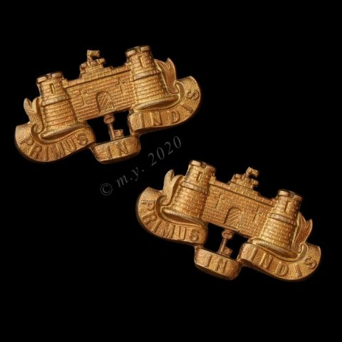 The 39th Dorsetshire Regiment of Foot Collar Badges