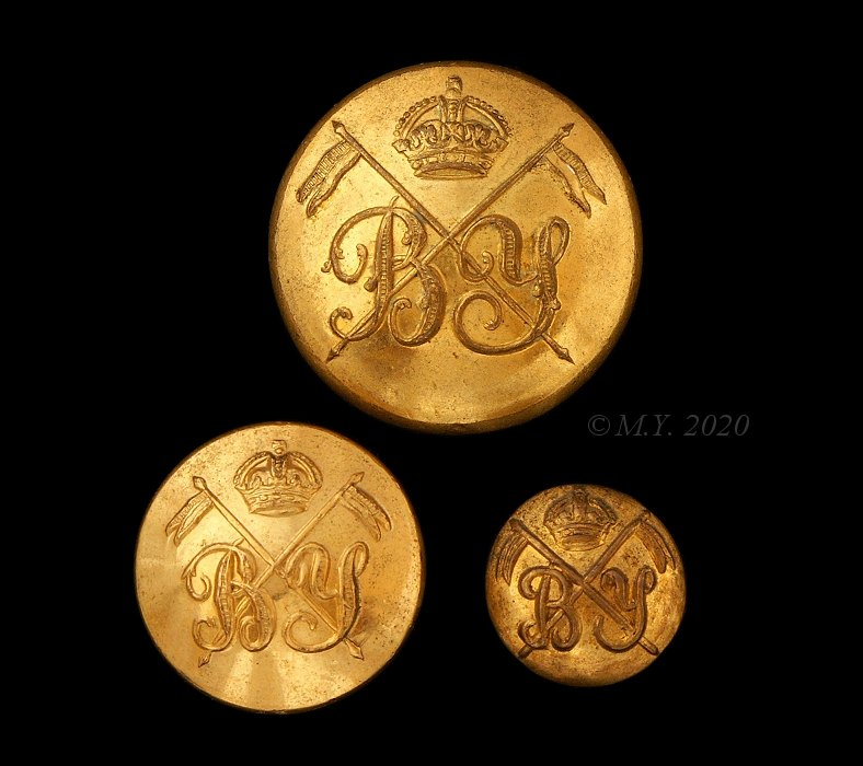 Bedfordshire Yeomanry Uniform Buttons