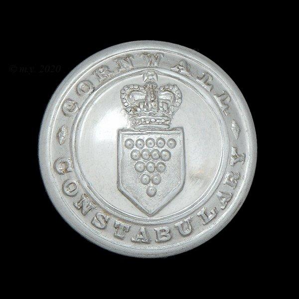 Cornwall Constabulary Uniform Button