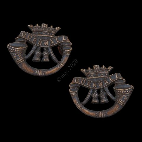 The Duke of Cornwall's Light Infantry Officers' Service Dress Collar Badges