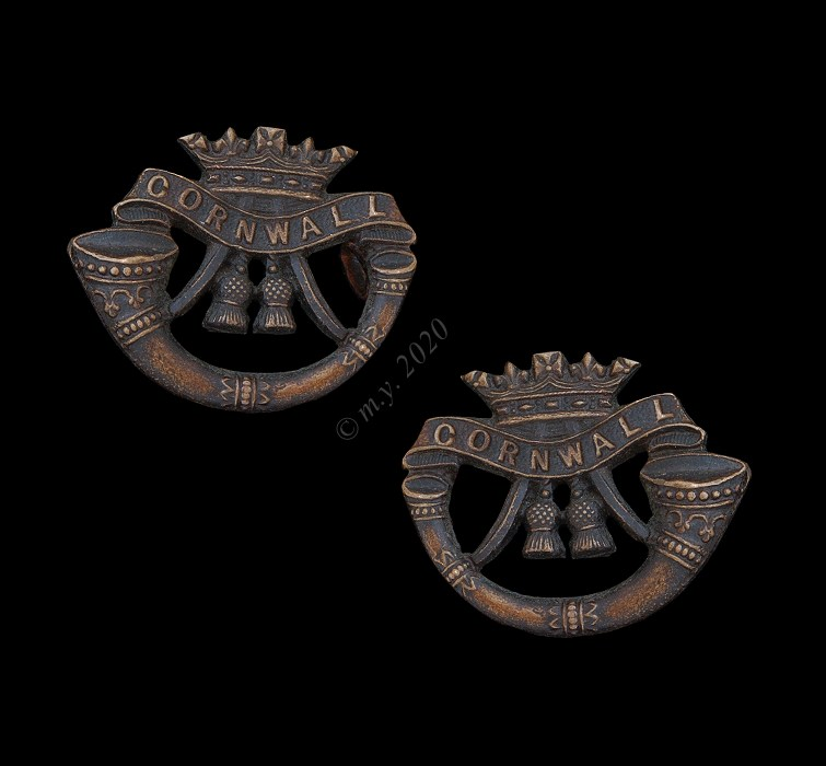 The Duke of Cornwall's Light Infantry Officers' Service Dress Collar Badges