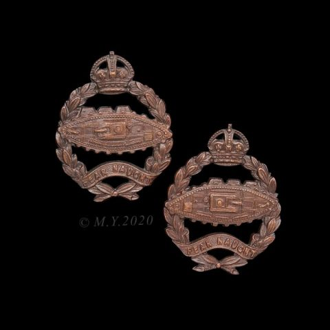 Royal Tank Regiment Officers' Service Dress Collar Badges