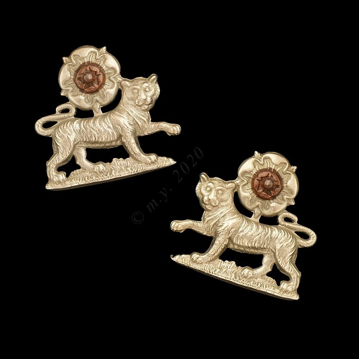 York and Lancaster Regiment Volunteer Battalion Collar Badges