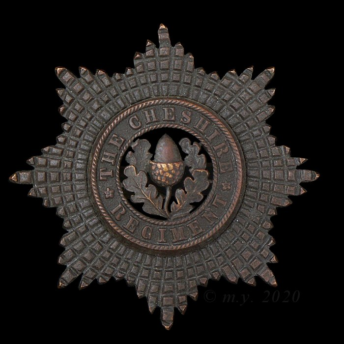 Cheshire Regiment Officers' Service Dress Cap Badge