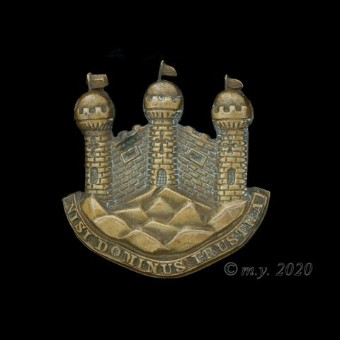 The King's Own Borderers Helmet Plate Centre 1881-1884