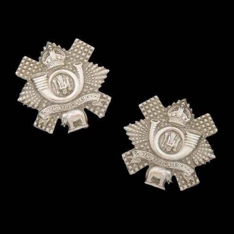 2nd Volunteer Battalion Highland Light Infantry Collar Badges
