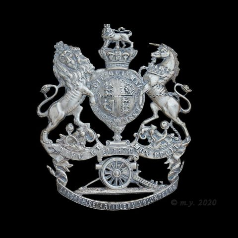 8th Lancashire Artillery Volunteers Helmet Plate