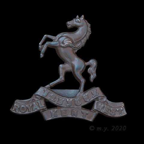 Royal West Kent Regiment Officer's 'OSD' Cap Badge
