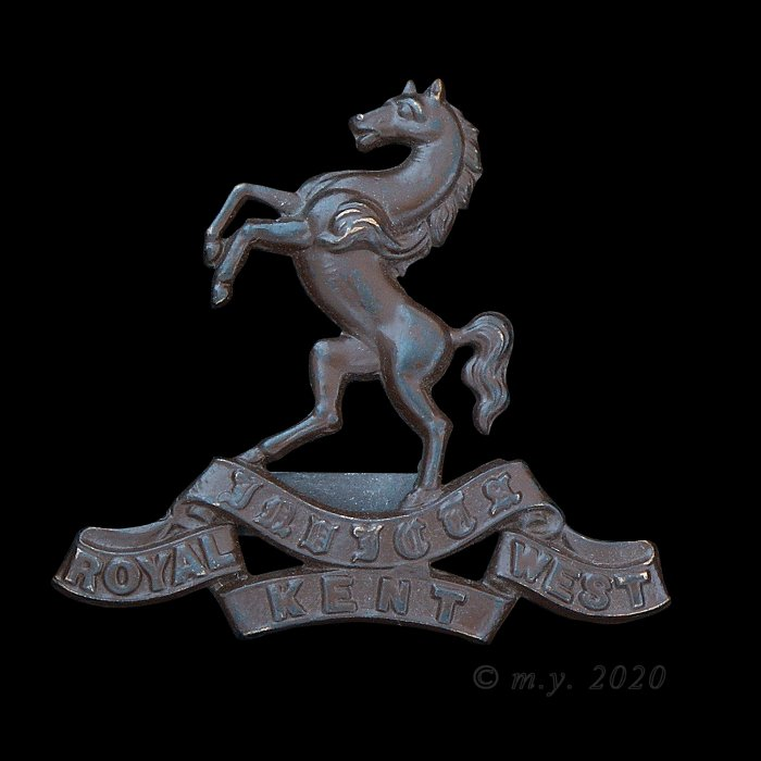 Royal West Kent Regiment Officer's 'OSD' Cap Badge