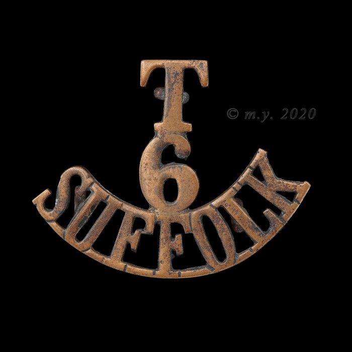 6th (Cyclist) Battalion The Suffolk Regiment Shoulder Title