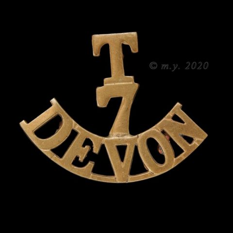 7th (Cyclist) Battalion The Devonshire Regiment Shoulder Title