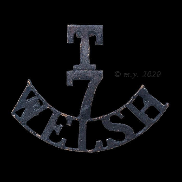 7th (Cyclist) Battalion The Welsh Regiment Shoulder Title