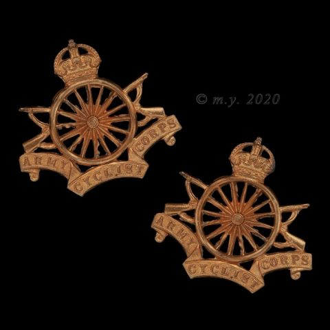 Army Cyclist Corps Collar Badges 1914-19