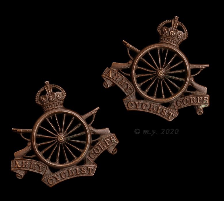 Army Cyclist Corps Officer's Collar Badges 1914-19