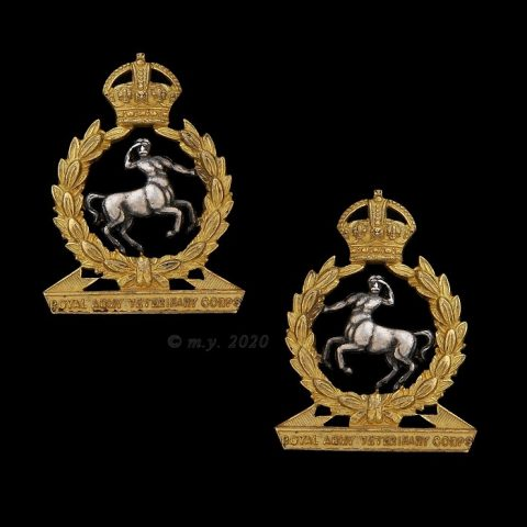 Royal Army Veterinary Corps Officer's Collar Badges