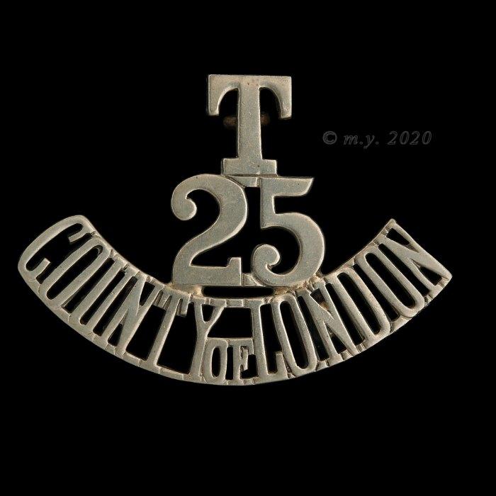 25th County of London (Cyclist) Battalion, The London Regiment Shoulder Title