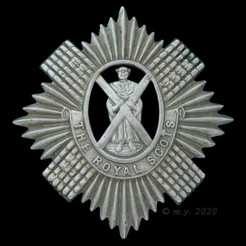Royal Scots (The Lothian Regiment) Territorial Battalions Cap Badge