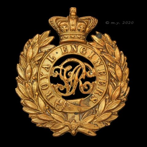 Victorian Royal Engineers Cap Badge c1898-1901