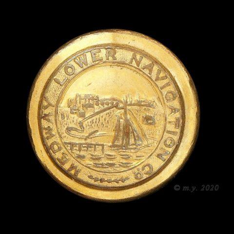 Medway Lower Navigation Company Uniform Button