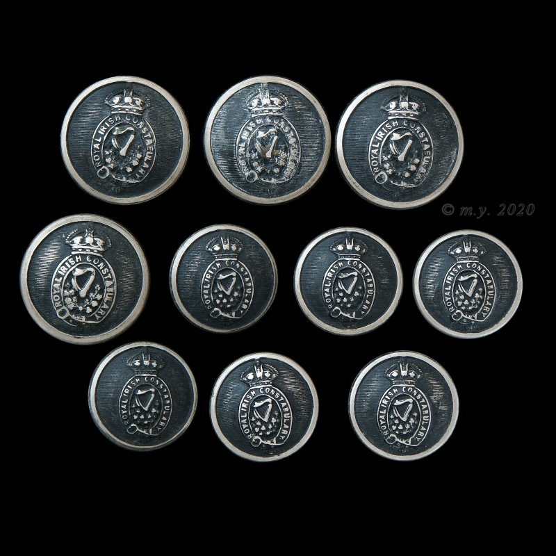 Royal Irish Constabulary Uniform Buttons